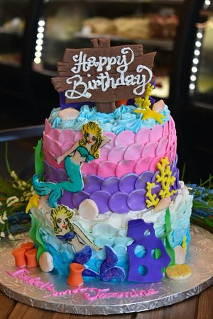 Fabulous Mermaid Birthday Cake Picture Of Goodies Bake Shop Ltd Funny Birthday Cards Online Fluifree Goldxyz