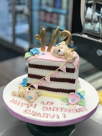 Fantastic Half Birthday Cake Picture Of Goodies Bake Shop Ltd Winnipeg Funny Birthday Cards Online Overcheapnameinfo