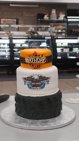 Prime Harley Davidson Birthday Cake Picture Of Goodies Bake Shop Ltd Funny Birthday Cards Online Overcheapnameinfo
