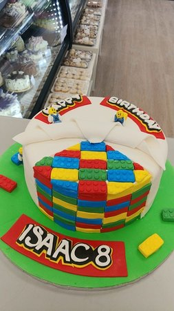 Prime Lego Themed Birthday Cake Picture Of Goodies Bake Shop Ltd Funny Birthday Cards Online Fluifree Goldxyz