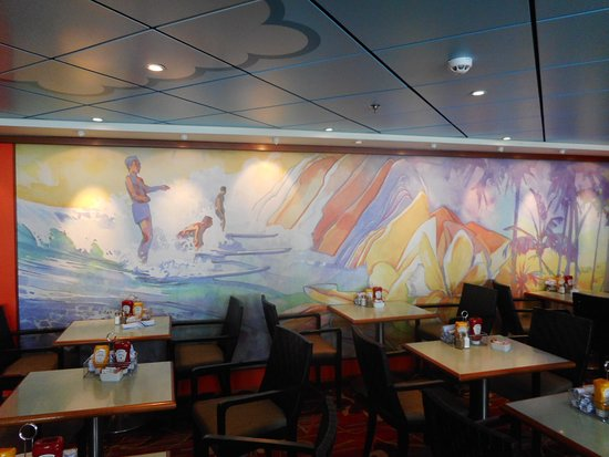 Pride of America: Aloha Cafe Dining Seating