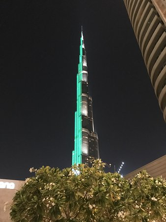 Burj Khalifa - Light show at night
