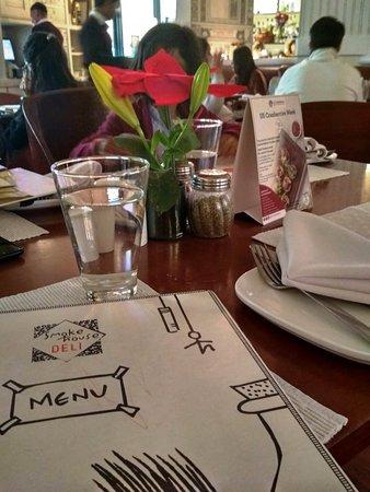The table at Smokehouse Deli
