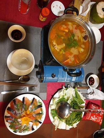 Fantastic salmon hot pot