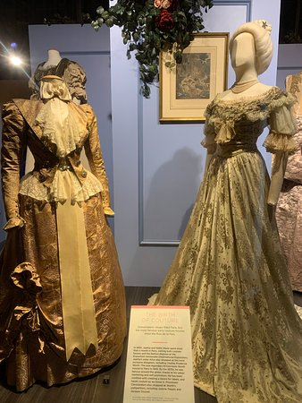 Skip the Line: Cleveland History Center Admission Ticket: Two dresses from costume and textile collection.