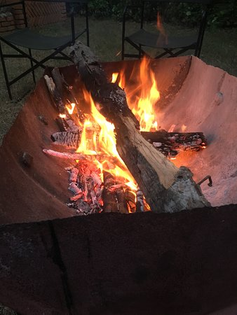 Enjoying a Fire-pit after outing.