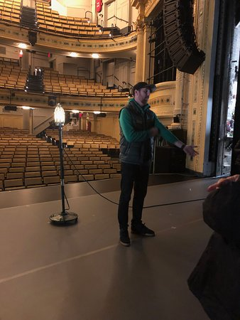 Tim  sharing his love of the theatre!