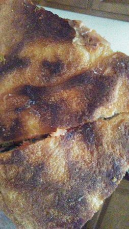 This was the hard, burnt crust!