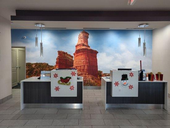 Pampa, Teksas: Reception area