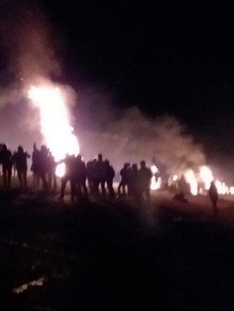 look at all bonfires