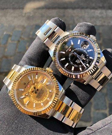 Αμβέρσα, Βέλγιο: Boutique D'or Rolex Sky Dweller, side by side Steel Gold