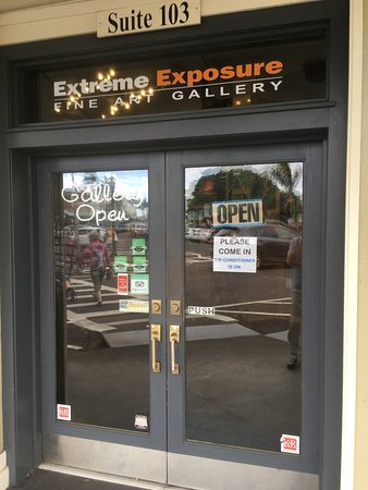 Front doors to the Extreme Exposure Gallery.