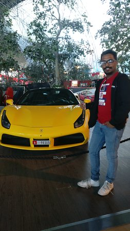Ferrari World Abu Dhabi Admission Ticket: Yellow Color Ferrari - Love of my life.