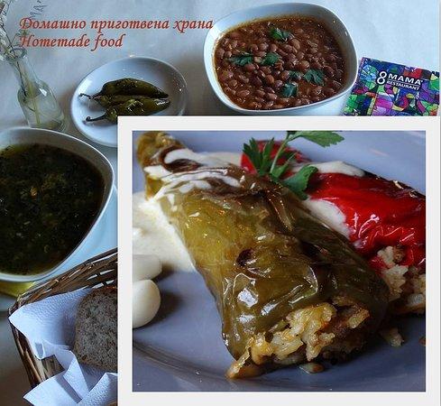 Homemade bulgarian stuffed peppers.