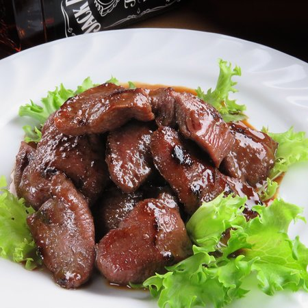 Beef tongue in paccio sauce, unforgettable taste if you want it, get it The 50/50 Club Sports Bar & Restaurant is allways here