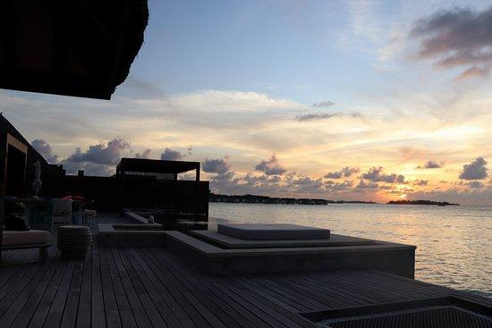 2 bedroom water villa sunset