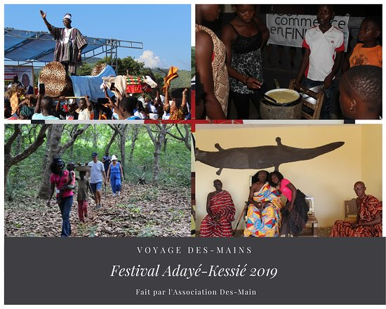 VOYAGE association Des-Mains Adayé-Kessié : Séjour en immersion et participation aux fêtes du nouvel an africain !  VOUS AIMEREZ Célébrer les fêtes d'igname ou fête de fin d'année avec nos amis et les ressortissants de la région de Bondoukou. Échanger, débattre et partager avec les habitants des villages de Tabagne,  Kouassi-N'dawa et les chefs coutumiers.   Être immergés au sein du village pour une semaine d'exception.