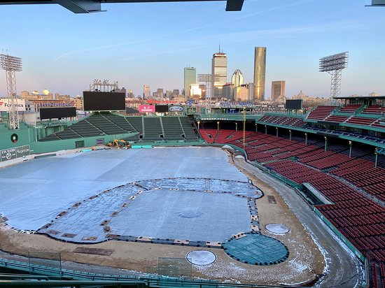 Tour of Historic Fenway Park, America's Most Beloved Ballpark: View from the wooden seats.