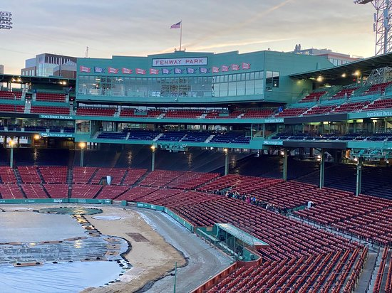 Tour of Historic Fenway Park, America's Most Beloved Ballpark: View from the Green Monster.