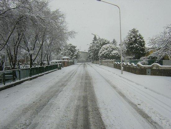 Morsano di Strada, Italia: via trieste in winter time