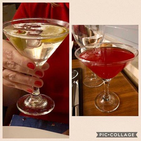 A'la Carte Restaurant International /  Aperitif: Campari Orange and Martini Bianco