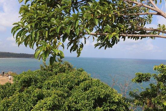 要塞から見たカリブ海