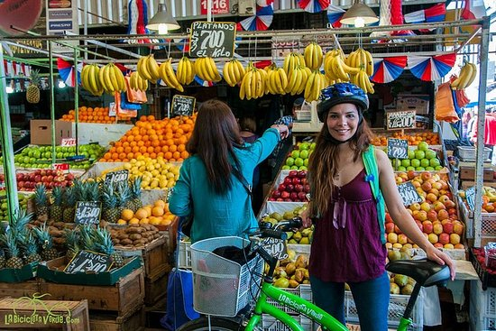 Santiago Markets Small-Group Bike Tour