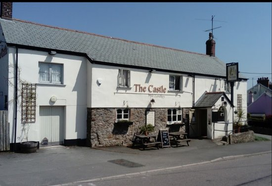 The Castle Pub, Landkey. Nice village pub. Disabled access, small car park at the front, bigger one in the rear. Attractive 'beer gardens' Small restaurant at the back of the pub. Bar at the front, wood burner, few tables/ chairs Snooker table.