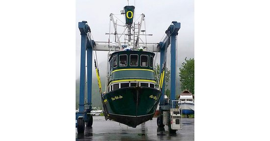 Owner Ryan Rogers is a huge Ducks fan—check out his commercial fishing vessel, the Cat-bil-lu!!!