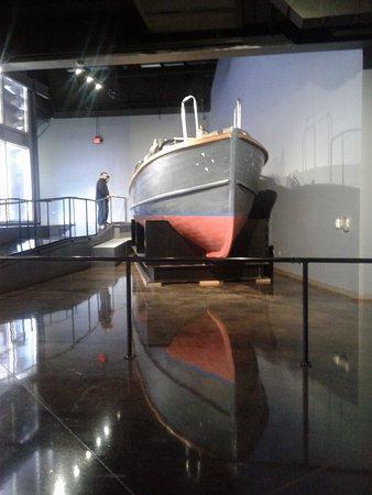 Admiral Nimitz' boat on display.