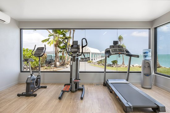 Fitness Room - new for 2020 - with ocean views. Poolside. Open 6.30am - 9.30pm daily.