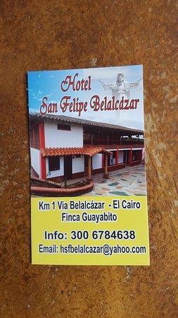 Hotel nuevo..10 habitaciones..WI FI ..parqueadero cerrado..campestre a 1 km de belalcazar caldas ..muy buena vista..tel 300 678 4638