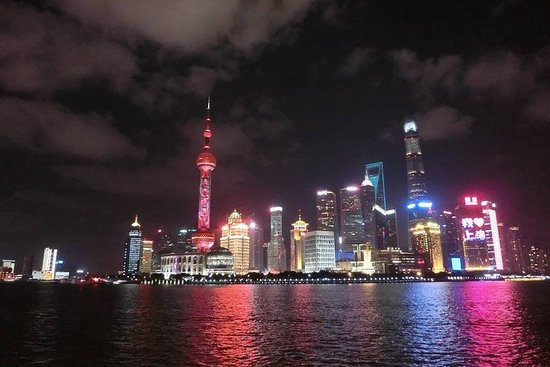 Fantastisk Shanghai Huangpu River Night...