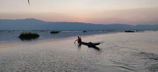Boatman at the Loktak Lake