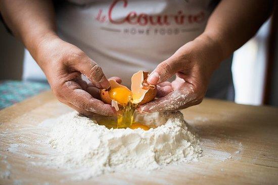 在Cesarina的家中舉辦私人意大利面製作課,在奧斯塔品嚐美食