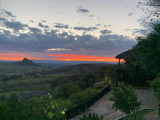 Sunset at Isandlwana (as seen from the pool)