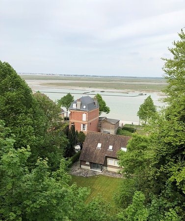 Baie de Somme - depuis les hauteurs de Saint-Valéry, vue sur la baie...