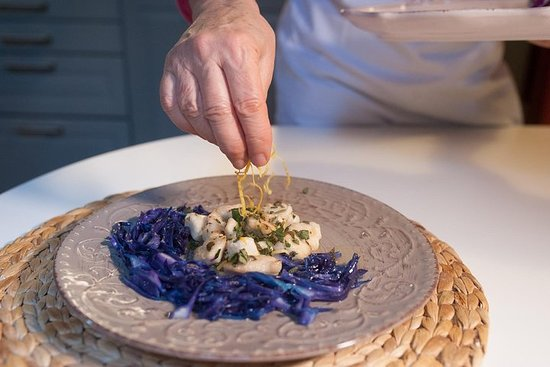 Cesarina家中的私人烹飪課,在奧斯塔舉行品酒會
