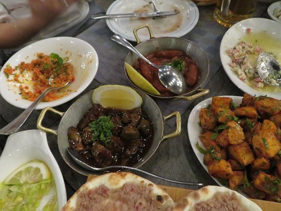 some of the hot mezze