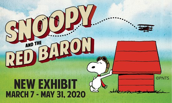 Charles Schulz introduced Snoopy as the World War I Flying Ace in 1965, and over the decades the Flying Ace has become one of Snoopy's most recognizable personas. This traveling exhibition from the Charles M. Schulz Museum and Research Center, titled Snoopy and the Red Baron, tells the full story of the charismatic and beloved character, from the origin of the story line, to how Schulz researched all aspects of World War I to bring authenticity to the strips.