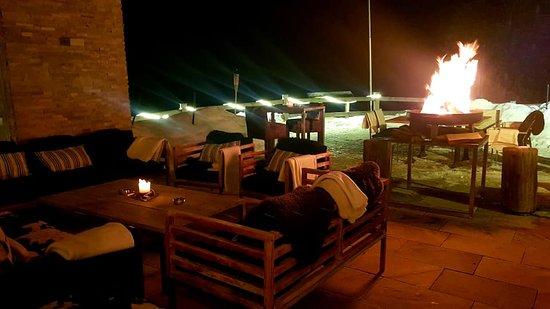Golfhuus Arose gemütlich auf der Terrasse