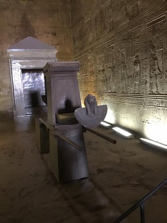 Giza pyramids, Sphinx, Camel ride, Sakkara & Dahshour pyramids: Temple of Edfu, Holy of Holies