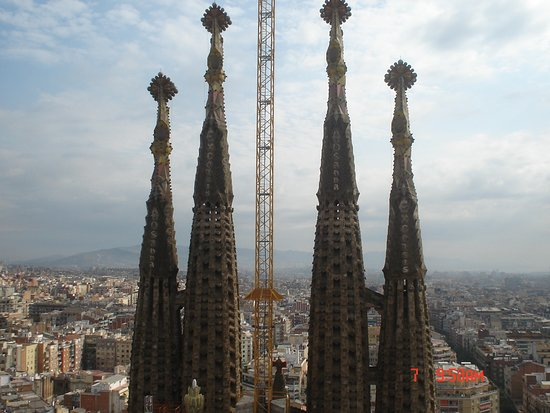 Basilica of the Sagrada Familia Admission Ticket with Tower Access: Imagen de 2007, con las 4 torres