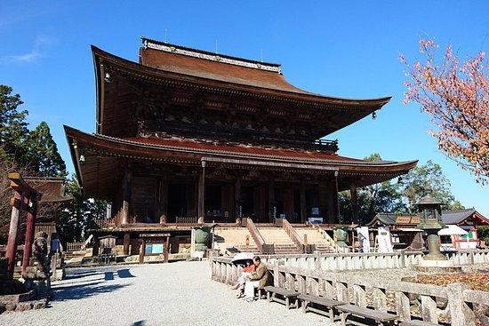 Spaser rundt i den fredelige fjellandsbyen Yoshinoyama