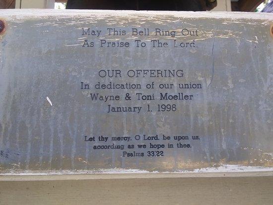 Savannah, GA: Dedication stone on the grounds of the church.