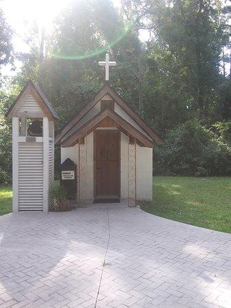 Savannah, GA: Entrance to the smallest church in America.