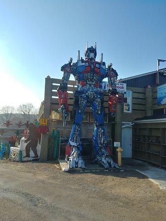Optimus Prime sculpture at the Primitive Designs