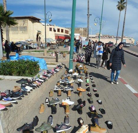 Ambulanter Schuh-Laden
