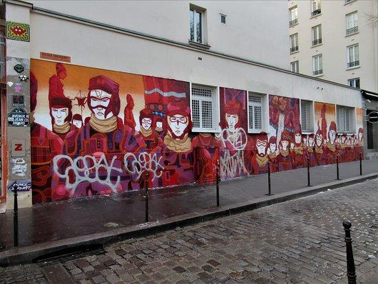 """Fresque """"L'armée rouge"""""""
