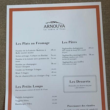 Arnouva Picture Of Restaurant Arnouva La Table D Yves Crans